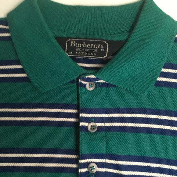 3c02fec2 Burberry Shirts | S 100 Cotton Striped Polo Shirt | Poshmark